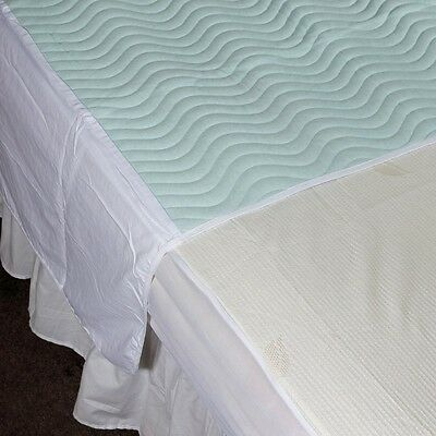 oCommunity 75 x 90cm With Wings, 3L Washable Waterproof Absorbent Bed Pad Single
