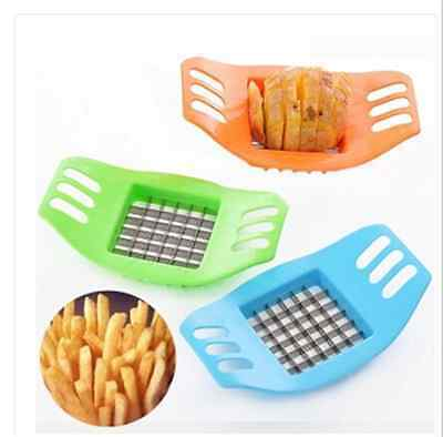 Potato Cutter Slicer Chopper Kitchen Cooking Tools gadgets Stainless Steel Fries