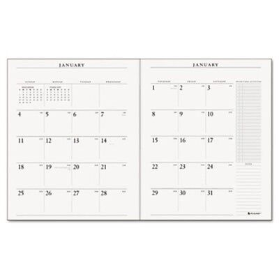 Recycled Executive Monthly Padfolio Refill, 9 x 11, 2014-2015