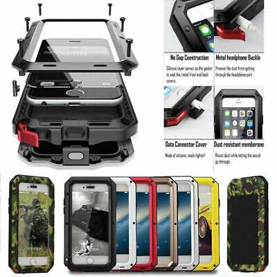 Shockproof Metal Aluminum Waterproof Gorilla Case For iPhone 6 7 8 X XR 5SE Plus