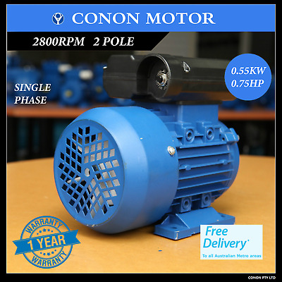 0.55kw 0.75HP 2800rpm shaft 14mm Electrical motor single-phase 240v
