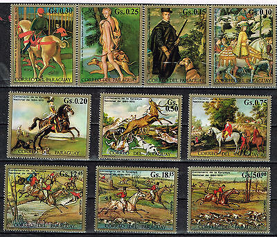 Paraguay World Art Famous Paintings Haunting set 1972 with rare airmails CV $40