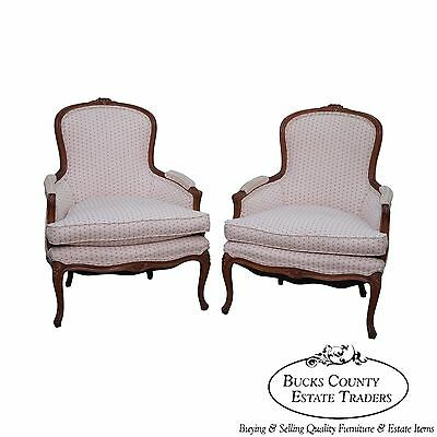 Nice Quality Pair of French Louis XV Style Bergere Chairs