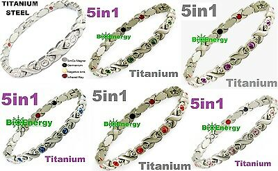 Magnetic Energy  Armband Power Bracelet Health Bio GERMANIUM Magnet 5in1 lady's
