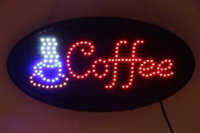 Animated LED advertising board COFFEE BUSINESS OPEN LED SIGN HIGH QUALITY SIGN!!
