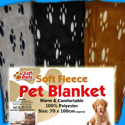 PET BLANKET THROW CAT KITTEN DOG PUPPY SOFT FLEECE WARM COMFORTABLE 70X100 cm