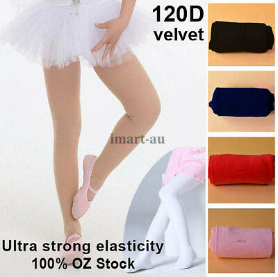 Girls Kids Opaque Dance Tights Dancing Pantyhose Hosiery Stockings Ballet Dance