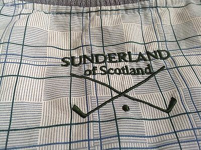 Sunderland Of Scotland Golf Vest Womens Plaid Large Poly Microfiber Pull Over