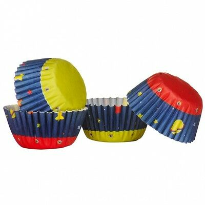 Ingraissable 100pc Mini Cupcake Cases Made Of Greaseproof Paper & Rocket Design.