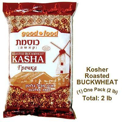 Kosher Roasted BUCKWHEAT groats - (1) One 2 LB Pack - Imported from Israel