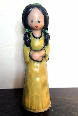 Vintage Collectible Gurley Candle Indian Woman or Girl Thanksgiving Wax Figurine