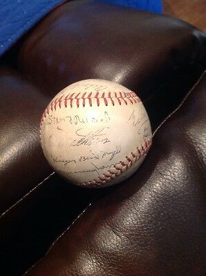 1959 National League All Stars Stamped Autographed Baseball