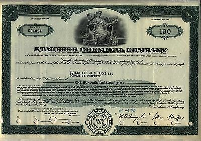 Stauffer Chemical Company Bond Stock Certificate