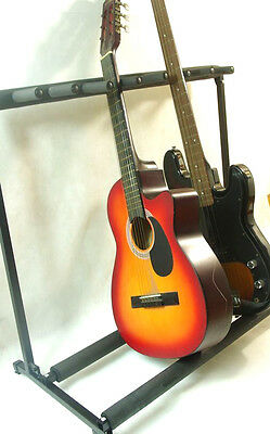 Multiple 7 Guitar Stand Rack Storage Electric Acoustic Guitar Organizer