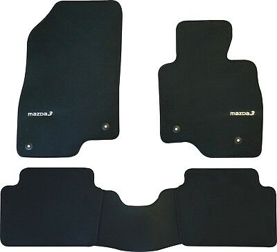MAZDA 3  BM BN CAR FLOOR MATS FRONT & REAR SET 2014 to 2017 SEDAN HATCH