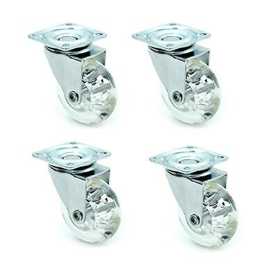 "Set of 4 Pc 75mm / 3 "" Swivel Casters Wheels W/ Top Plate 440lb Total Capacity"