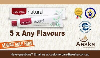Bulk Deal - 5 x Any Red Seal Toothpaste