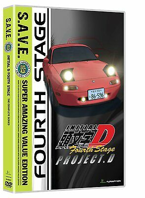 Initial D . Fourth Stage . The Complete Season 4 . Anime . 4 DVD . NEU