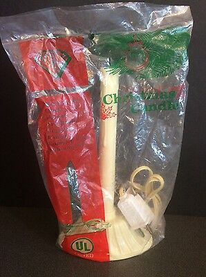 NEW Vintage GEM Single Plastic Christmas Candle Electric Drip Ivory NIP Sealed