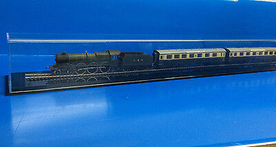 """Train Display case HO scale 39"""" long with black acrylic base"""