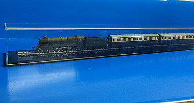 "Train Display case HO scale 39"" long with black acrylic base"