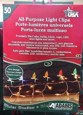 Adams Mfg 9040-99-1640 50/PACK ALL-PURPOSE LIGHT CLIPS PORTE-LUMIERES UNIVERSELS