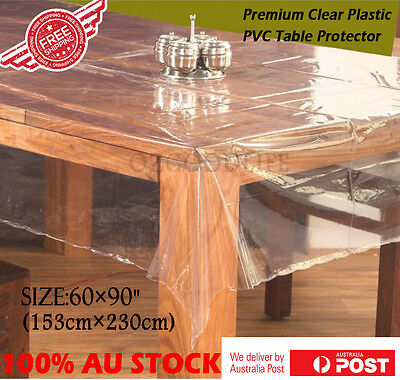 Clear Plastic PVC Table Protector Dining Picnic Camping Cloth 153 X 230CM