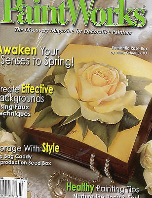 Tole Painting Book Paint Works Rose Kittens Teddy Bear Seed Packet May 2005