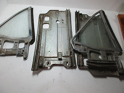 1964 1965 1966 Ford Mustang Coupe K Hipo Quarter Window Glass Original Pair
