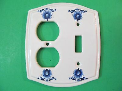 Vintage Ceramic Heritage Collection Floral Light Switchplate Plug Outlet Cover