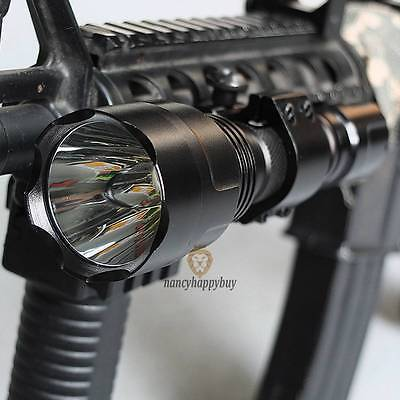 CREE T6 LED Tactical Flashlight 1200LM with Picatinny Rail Mount Pressure Switch