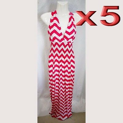 5pc Wholesale Long Ladies Dress Stretch Free Size Women Clothing Clearance Sale