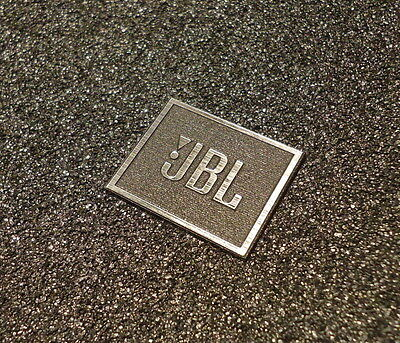 JBL Logo Emblem Badge brushed aluminum adhesive 28 x 23 mm [239]