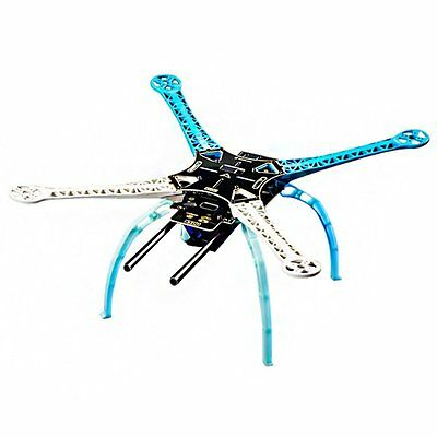 PCB Carbon Fiber 4-Axis Frame Kit Blue&White with Tall Landing Skid for DJI SP