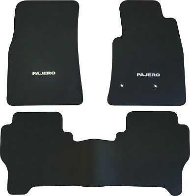 MITSUBISHI PAJERO NS NT NW NX CAR FLOOR MATS FRONT & REAR 2006 to 2017 5DR WAGON