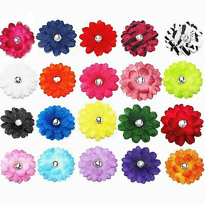 "Lot 20pcs 2"" Boutique Baby Girls Kids Hair Daisy Flower Alligator Hair Clips Pin"