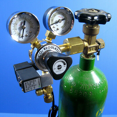Co2 Regulator Working Pressure Adjustable Solenoid -Aquarium Planted Fish Tank