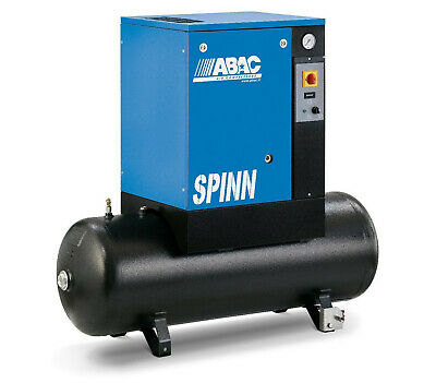 Abac Screw Air Compressor Spinn 2.2-5.5kw inc tank 200L inc vat