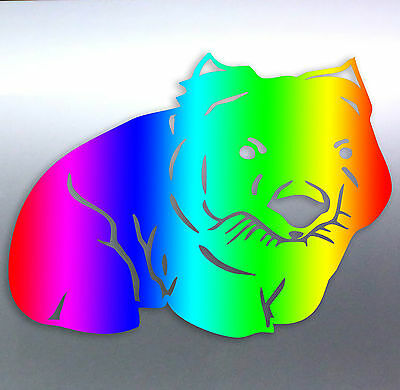 Cute Wombat Australian Animal Colourful Baby Wall door window vinyl cut sticker