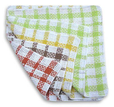 Waffle Dishcloths 100% Cotton Checked Dish Cloths Pack Of 12