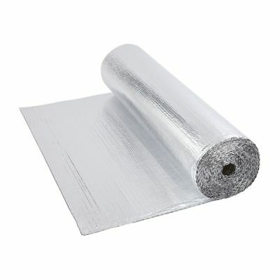 Double Foil Single Bubble Aluminum Insulation Roll 1.2m x 10m Floor Loft Wall
