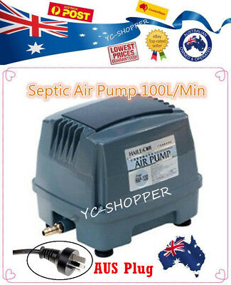 Hailea Hiblow 100L/M Domestic Septic Air Aerator Pump Compressor Treatment Plant