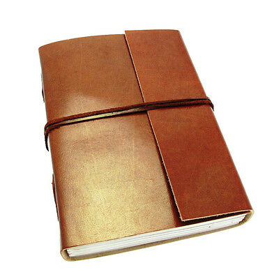 Fair Trade Handmade Eco Large Plain Leather Journal Notebook Diary