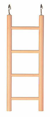 4 Rung Wooden Ladder Bird Budgie Rodent Hamster Mouse Gerbil Cage Toy 20cm