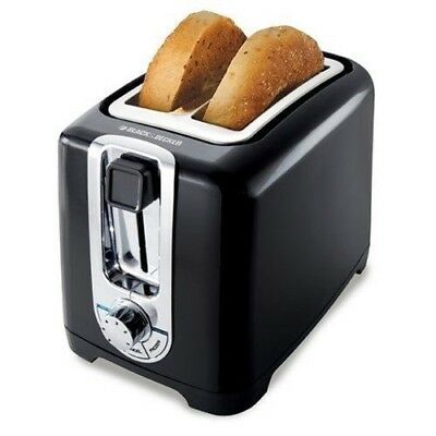 BLACK+DECKER TR1256B, 2-Slice Toaster with Bagel Function, Black/Stainless Steel