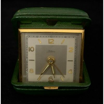 Vintage Kaiser German Wind Up Travel Alarm Clock in Hard Case