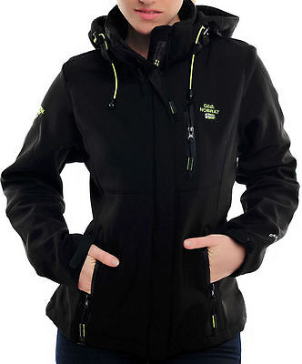 Giubbotto Geographical Norway Nero donna Softshell Giacca Impermeabile Anapurna