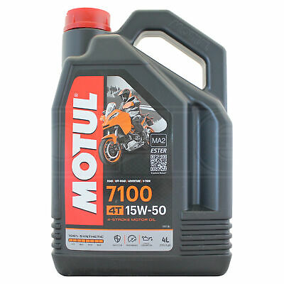 Motul 7100 4T 15w-50 Fully Synthetic Motorcycle Engine Oil - 4 Litres 4L