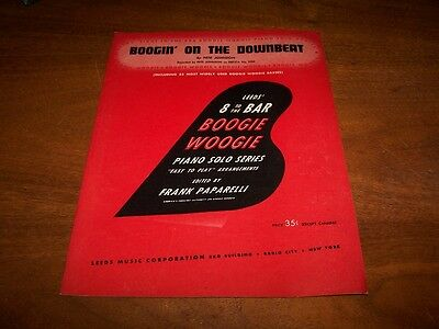 Boogin' On The Downbeat Pete Johnson Songbook Boogie Woogie