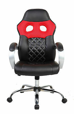 Brand New Design Mesh+PU Leather Sporty Computer/Office Chair (#SP001) Red